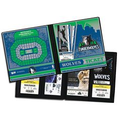 Minnesota Timberwolves Ticket Album, Multicolor