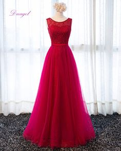 Dreagel New Design Gorgeous Lace Floor-Length Prom Dress 2017 Beaded Scoop  Neck Sashes Formal Party Gown Robe De Soiree Hot Sale 9678695fe0e4