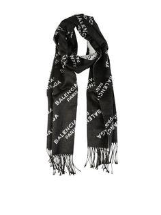 Intarsia-bufanda De Punto - Negro Balenciaga QTDaTPwV
