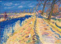 Johan Dijkstra - Landschap bij Onderendam (recto); Ameland (verso)