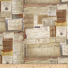 Tim Holtz Eclectic Elements Documentation Neutral from @fabricdotcom  Designed by Tim Holtz, this cotton print fabric is perfect for quilting, apparel, crafts, and home decor items. Colors include tan, taupe, cream, purple, red, and grey.