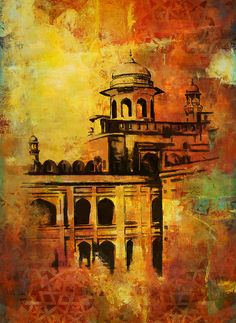 Lahore Fort Painting