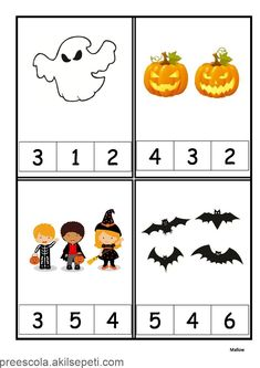Halloween écriture chiffrée 1 à 6 - #à #chiffrée #ecriture #Halloween Theme Halloween, Halloween Crafts For Kids, Fall Halloween, Halloween Snacks, Numbers Preschool, Free Preschool, Preschool Worksheets, Halloween Worksheets, Halloween Activities