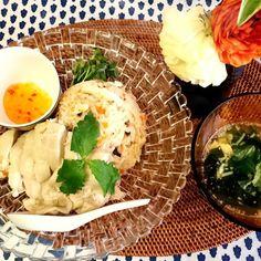 生野菜キライな息子にお野菜も入れて食べやすくしました。 - 12件のもぐもぐ - アレンジシンガポールチキンライス by pipichan