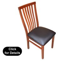 """""""ExmouthJarrah Dining Chair with Leather"""
