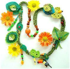 Crochet necklace - summer