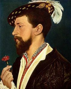 Marriage portrait of Simon George of Cornwall - Hans Holbein the Younger - English - c. Städel Museum, Hans Holbein The Younger, History Articles, Blackwork Embroidery, Renaissance Paintings, Historical Costume, Historical Clothing, Renaissance Fashion, Work Inspiration