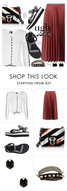 """""""Ugly Shoe"""" by stacey-lynne ❤ liked on Polyvore featuring Topshop, Leur Logette, Teva, Proenza Schouler, Kendra Scott and Bling Jewelry"""