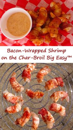 "I really should've listened to my inner voice. You know the one. The one that says ""You should make a double batch of these bacon-wrapped shrimp"". But I didn't listen. I fired up my Char-Broil Big Easy and made just one batch. One little ole batch. I knew as soon as the bacon started cooking that I was in a for a treat. In almost no time I was enjoying hot, tender, moist shrimp wrapped in tasty bacon, seasoned with my favorite Fire-Eater rub, dipped in a cool remoulade sauce."