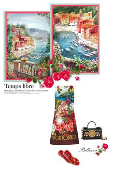 """""""Beautiful Portofino by Dolce & Gabbana"""" by fashion-and-beauty-miracles ❤ liked on Polyvore featuring Dolce&Gabbana, IDeeen and Hedi Slimane"""