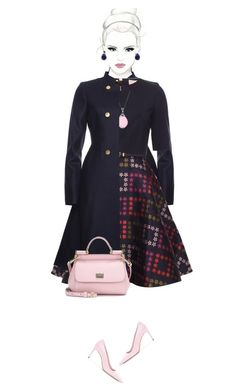 """Office outfit: Navy - Rose - Floral"" by downtownblues ❤ liked on Polyvore featuring Miu Miu, Ken Craft, Dolce&Gabbana, Chanel and Savvy Cie"