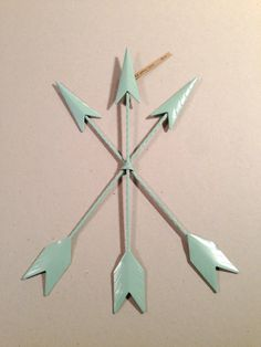 mint green / arrows / hunger games / home decor by TheYellowSpoon, $26.00
