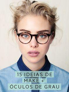 Inspirações variadas de como usar maquiagem com óculos de grau. Vic Ceridono | Dia de Beauté