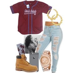 Untitled #134 by khanyajane on Polyvore featuring Timberland, Michael Kors, Thalia Sodi and HUF