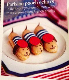 Adorable parisian pooch eclairs