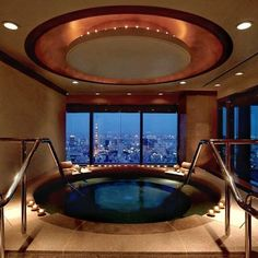 """Go check out @luxury_listings with this great shot of the Presidential Suite Jacuzzi located at the Ritz Carlton in Tokyo Japan.  All week long we will be featuring Japan. Hashtag your best pictures taken in the #Japan with #luxwt or #luxuryworldtraveler for a chance to be featured.  """"Dream Big Eat Well & Travel On!""""  by luxuryworldtraveler"""