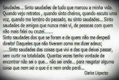 Português na tela: ...SiNtO sAuDaDeS