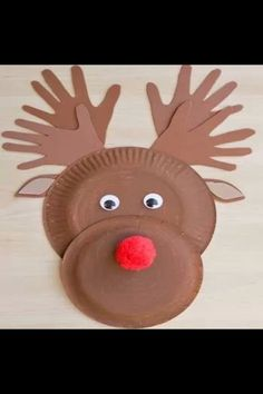 a Paper Plate Reindeer Preschool Christmas Activities: Make a Paper Plate ReindeerPlate Plate may refer to a range of generally thin and flat objects upon where food or other items—including additional plates—can be placed. Christmas Crafts For Toddlers, Christmas Paper Crafts, Preschool Christmas, Toddler Christmas, Christmas Activities, Toddler Crafts, Christmas Projects, Kids Christmas, Holiday Crafts