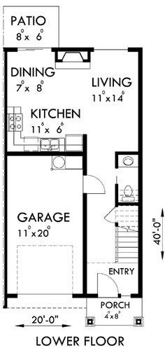 House Plans, Duplex Plans, Row Home Plans