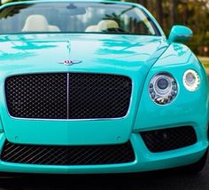 Pinning mostly for the color :) Tiffany Blue Bentley, #Bentley  #Tiffanyblue  #cars