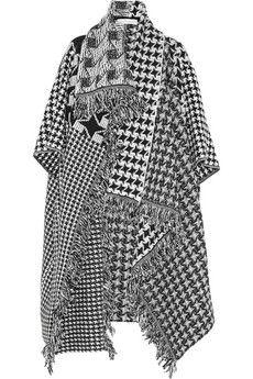Stella McCartney - Drapier-Mantel aus Wolle mit Hahnentrittmuster