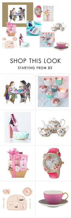 Bagardcardsandcrafts by bamagirl0320 on Polyvore featuring interior, interiors, interior design, home, home decor, interior decorating, Kate Spade, Royal Albert and Betsey Johnson