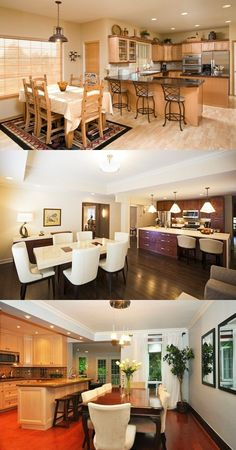 How to Organise your Kitchen and Dining Room? - http://interiordesign4.com/how-organise-kitchen-dining-room/