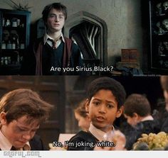 A little Harry Potter humor.
