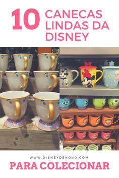 Canecas da Disney, Disney mugs, Orlando, Disney, Walt Disney World, produtos Disney, compras em Orlando