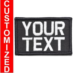 LIMITED  EDITION    Custom Text Military 2x3 inch Patch. Your Text. | Tactical Gear Junkie