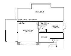 Lower Floor Plan - Plan we looked at with Sam, but a 3 car. Could we turn the crawl space into a basement?