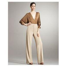 Calça Pantalona- Pp Modelo Importado Em Linho Muito Elegante