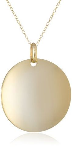 """Goldtone Finish Sterling Silver High Polished Converse Medallion Pendant Necklace, 18"""" Amazon Curated Collection,http://www.amazon.com/dp/B002CGSWK0/ref=cm_sw_r_pi_dp_A908sb0JX9CNJVNG"""