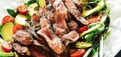 Rosemary and Balsamic Lamb Steaks with Israeli Couscous Salad