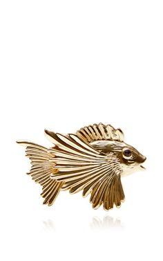 Fish Gold Placecard Holders Set Of 6 by L'objet