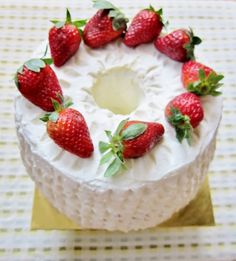 Strawberries and Cream Chiffon Cake