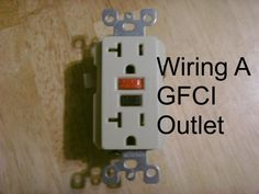 Detailed instructing by choosing, installing and wiring a GFCI outlet. Written by an electrician for the homeowner doing their own work. ** Read more about home decor at the image link. Home Electrical Wiring, Electrical Projects, Electrical Outlets, Electrical Engineering, Electrical Switches, Electrical Installation, Installing Electrical Outlet, Ac Wiring, Residential Electrical