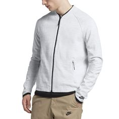 Nike Sportswear Tech Knit Men's Jacket Size Medium (White) - Clearance Sale