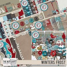 Collections :: Coordinated Collections :: Winters Frost :: Winter Frost Bundle by The Kit Cart Designs