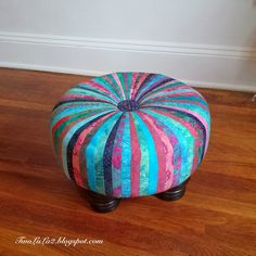 """Little Miss Muffet sat on her tuffet... Here is my very first hand made tuffet! I say """"very first"""" not because I have oth..."""