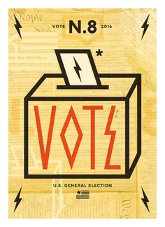 Get Out The Vote Poster for AIGA / League of Women Voters
