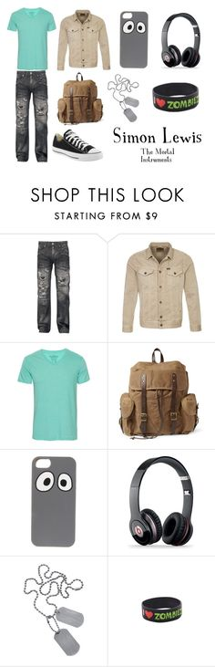 """""""The Mortal Instruments: Simon"""" by rowduh11 ❤ liked on Polyvore featuring Salomon, Replay, Pull&Bear, Converse, J.Crew, Jack Spade, Beats by Dr. Dre, Topman, Simon and CityOfBones"""