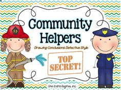 Diary of a First Grade Teacher: Community Helpers Guessing Game