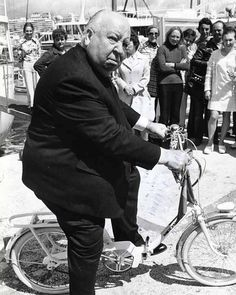 Alfred Hitchcock at the Cannes film festival (1972)
