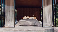 BADA STUDIO : architect in bali Kemenuh Pavilion / Bali   BADA STUDIO : architect in bali Honeymoon Suite, Tropical Houses, Ubud, One Bedroom, Outdoor Furniture, Outdoor Decor, Pavilion, Bali, Studio