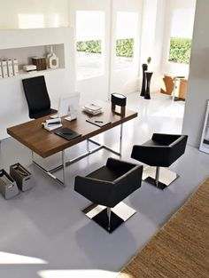 50 Home Office Furniture Image Ideas – How To Arrange One – CasaNesia – Modern Home Office Design Home Office Space, Home Office Desks, Home Office Furniture, Office Decor, Interior Office, Interior Ideas, Furniture Ideas, Modern Furniture, Architectural Digest