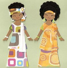 Multicultural Paper Doll Templates | Love Dolls!! on Pinterest | African…