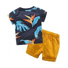 Shirt + Short Boys Summer Outfit Little boy outfits Toddler Boy Fashion, Toddler Boy Outfits, Toddler Boys, Kids Fashion, Fashion Clothes, Fashion 2016, Baby Kids, Fashion Shirts, Kids Girls