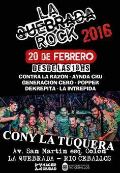 Mañana #LaQuebradaRock2016 hace temblar a #RíoCeballos #CLT presente!