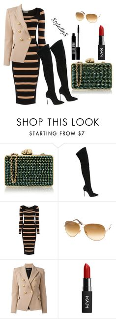 """""""StyledbyS"""" by sforstylebys on Polyvore featuring Wilbur & Gussie, Casadei, Oasis, Tom Ford, Balmain, Lord & Berry, DateNight, celebirtyinspired and officechicstyle"""